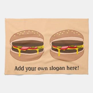Customize this Hamburger graphic Towel