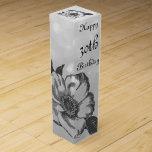 Customize this Happy 30th Birthday Wine Gift Box