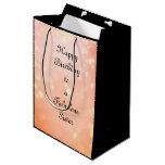 Customize this Happy Birthday Sister Medium Gift Bag