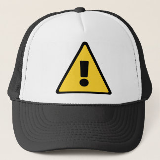 Customize this HD Caution Triangle Trucker Hat
