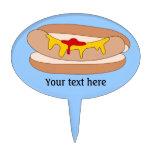 Customize this Hot Dog graphic Cake Picks