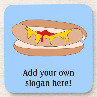 Customize this Hot Dog graphic Coaster