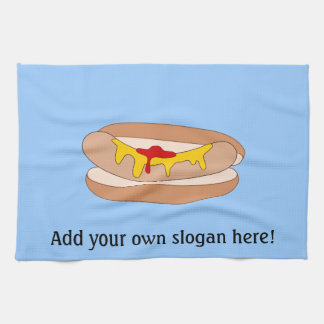 Customize this Hot Dog graphic Kitchen Towels