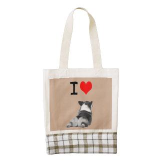 Customize this I Love Corgi Butts design Zazzle HEART Tote Bag