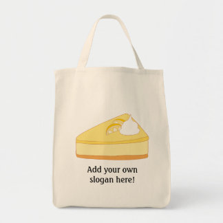 Customize this Lemon Cheesecake graphic Grocery Tote Bag