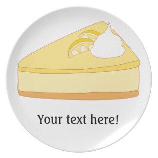Customize this Lemon Cheesecake graphic Melamine Plate