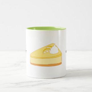 Customize this Lemon Cheesecake graphic Two-Tone Coffee Mug