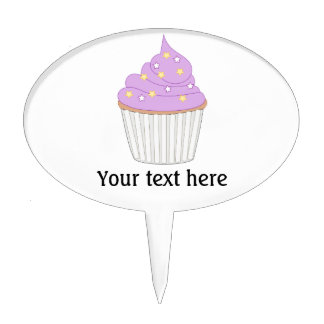 Customize this Lilac Cupcake graphic Cake Topper