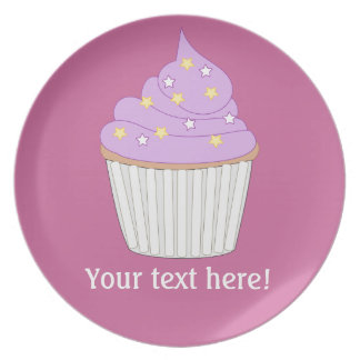Customize this Lilac Cupcake graphic Dinner Plate