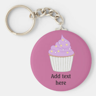 Customize this Lilac Cupcake graphic Keychains