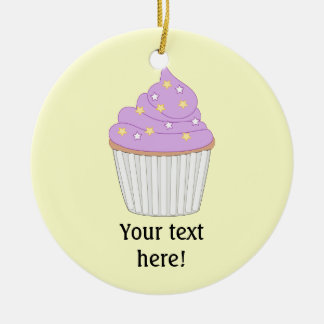 Customize this Lilac Cupcake graphic Christmas Ornament