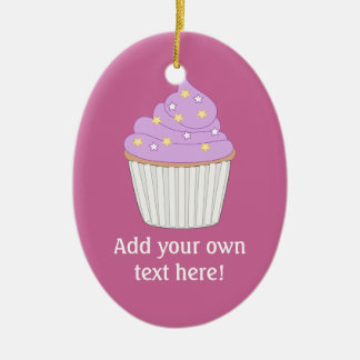 Customize this Lilac Cupcake graphic Ornament