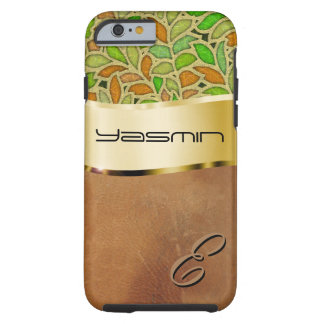 Customize this luxurious leather and leafy tough iPhone 6 case