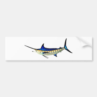Customize this Marlin with your Boat Name Bumper Sticker