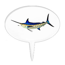 Customize this Marlin with your Boat Name Cake Topper