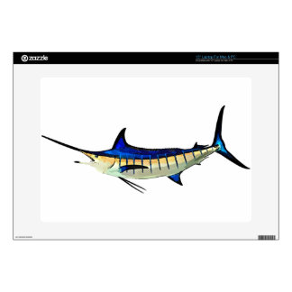 Customize this Marlin with your Boat Name Decal For Laptop