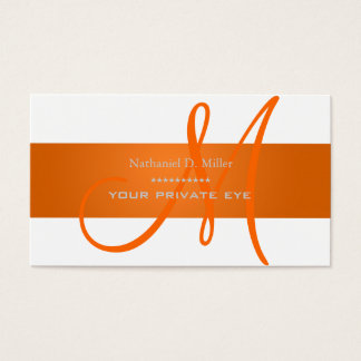 Customize this monogram business card/diy color business card