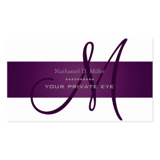 Customize this monogram/DIY background color Business Card Template