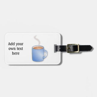 Customize this Mug of Coffee graphic Bag Tag