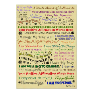 Customize this Organic Affirmation Poster