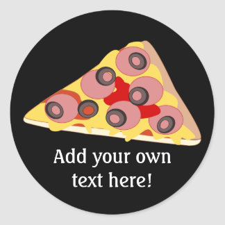 Customize this Pizza Slice graphic Classic Round Sticker