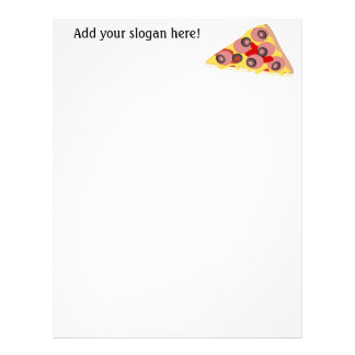 Customize this Pizza Slice graphic Letterhead
