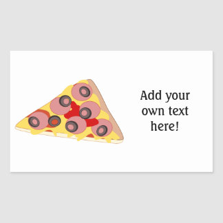 Customize this Pizza Slice graphic Rectangular Sticker