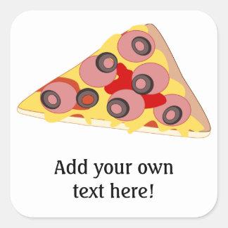 Customize this Pizza Slice graphic Square Sticker