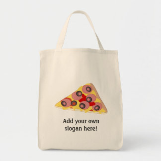 Customize this Pizza Slice graphic Tote Bag