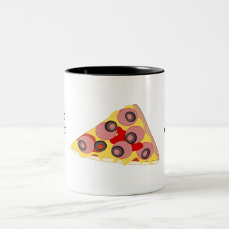 Customize this Pizza Slice graphic Two-Tone Coffee Mug