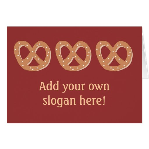 Customize this Pretzel Knot graphic Greeting Card