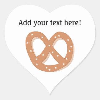 Customize this Pretzel Knot graphic Heart Sticker