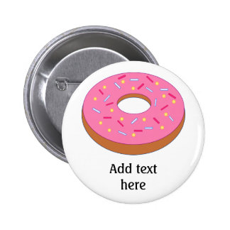 Customize this Ring Doughnut Graphic 2 Inch Round Button