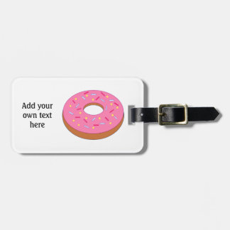 Customize this Ring Doughnut Graphic Bag Tag