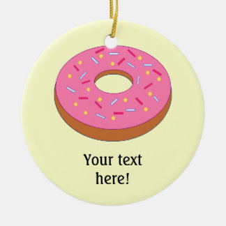 Customize this Ring Doughnut Graphic Double-Sided Ceramic Round Christmas Ornament