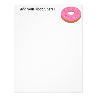 Customize this Ring Doughnut Graphic Letterhead