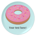Customize this Ring Doughnut Graphic Party Plate