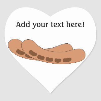 Customize this Sausages graphic Heart Sticker