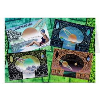 Customize this Science Fiction Travel Fantasy Card