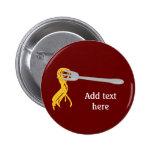 Customize this Spaghetti Pasta graphic Pinback Button