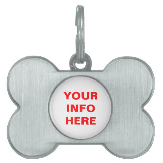 CUSTOMIZE THIS TAG PET ID TAGS