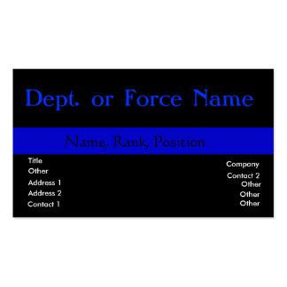 Customize this ThinBlueLine Double-Sided Standard Business Cards (Pack Of 100)