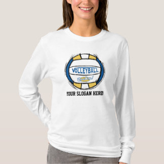 Customize This Volleyball Design T-Shirt