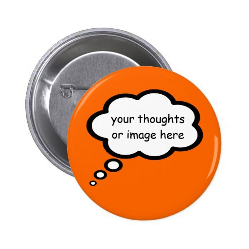 customize thought cartoon balloon 2 inch round button