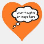 customize thought cartoon balloon heart sticker