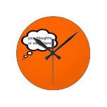 customize thought cartoon balloon round wallclocks