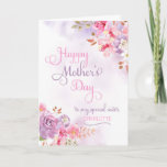 Customize to Sister, Happy Mother's Day Card
