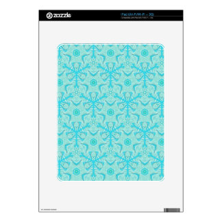 Customize Turquise Cool Seamless Pattern Backgroun Skins For The iPad
