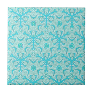 Customize Turquise Cool Seamless Pattern Backgroun Tile