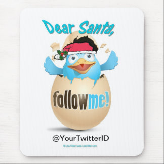 Customize Twitter Dear Santa Gifts Apparel Mouse Pad
